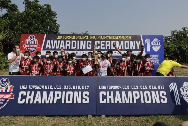 Hasil Akhir Liga TopSkor U-12, U-13 dan U-16 2020-2021: Tim Juara dan Gelar Individu