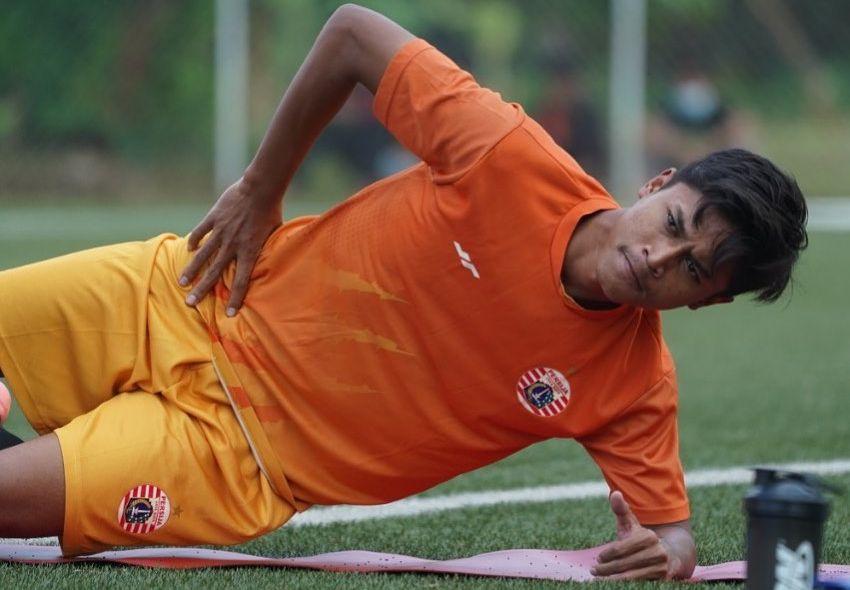 Pemain muda Persija Jakarta, Alfriyanto Nico Saputro.