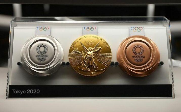 Medali yang diperebutkan dalam Olimpiade Tokyo 2020.