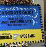 Harap Dapat Berkah Jelang Playoff, EVOS Kirimi Kontestan MPL ID Season 4 Karangan Bunga