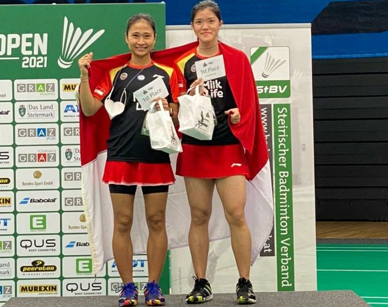 Serena Kani/Ni Ketut Mahadewi Istarani sukses juara Austrian Open 2021 usai mengalahkan ganda asal Malaysia, Anna Ching Yik Cheong/Yap Cheng Wen.