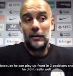 VIDEO: Josep Guardiola Memuji Gabriel Jesus yang Bermain dalam Tiga Posisi di Lini Depan