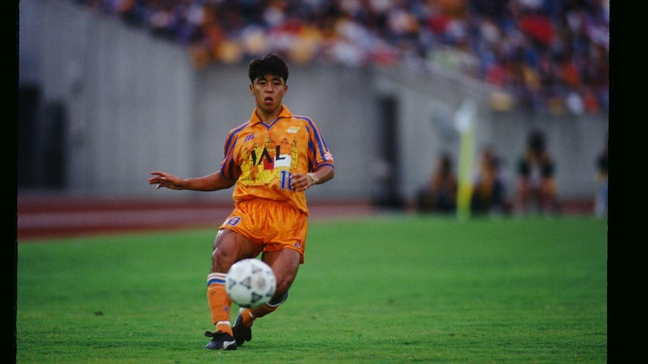 Rookie Terbaik J.League 1993, Masaaki Sawanobori, saat membela Shimizu S-Pulse.