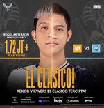 Laga El Clasico, RRQ Hoshi vs EVOS Legends Kembali Pecahkan Rekor Jumlah Penonton