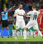 Bawa Italia Juara Euro 2020, Bonucci dan Chiellini pun Tidur Berdua bersama Trofi