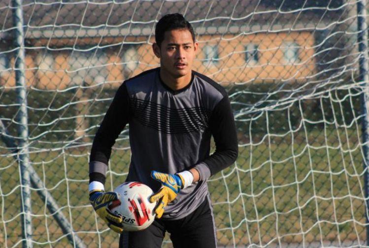 Erlangga Setyo, kiper muda Persib Bandung saat seleksi timnas U-19 Indonesia pada Januari 2020.