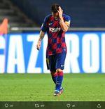 Efek Domino Kekalahan Barcelona dan Kartu Merah Perdana Lionel Messi bersama Blaugrana
