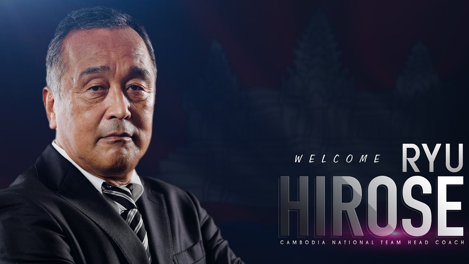 Ryu Hirose asal Jepang, sosok pengganti Felix Dalmas untuk timnas Kamboja.