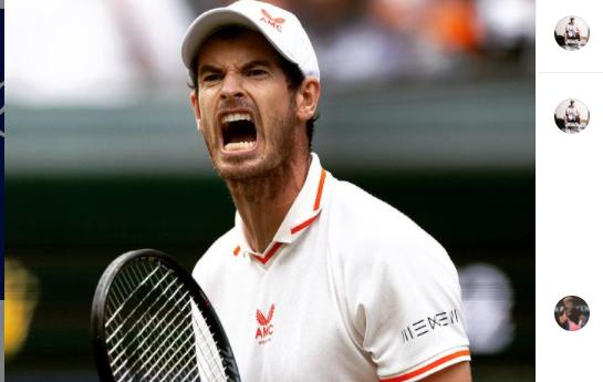 Sosok petenis Britania Raya, Andy Murray.