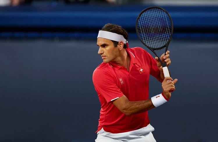 Tampilan Roger Federer dengan koleksi seragam tanding UNIQLO 2020 yang bakal digunakan dalam beberapa turnamen ke depan.