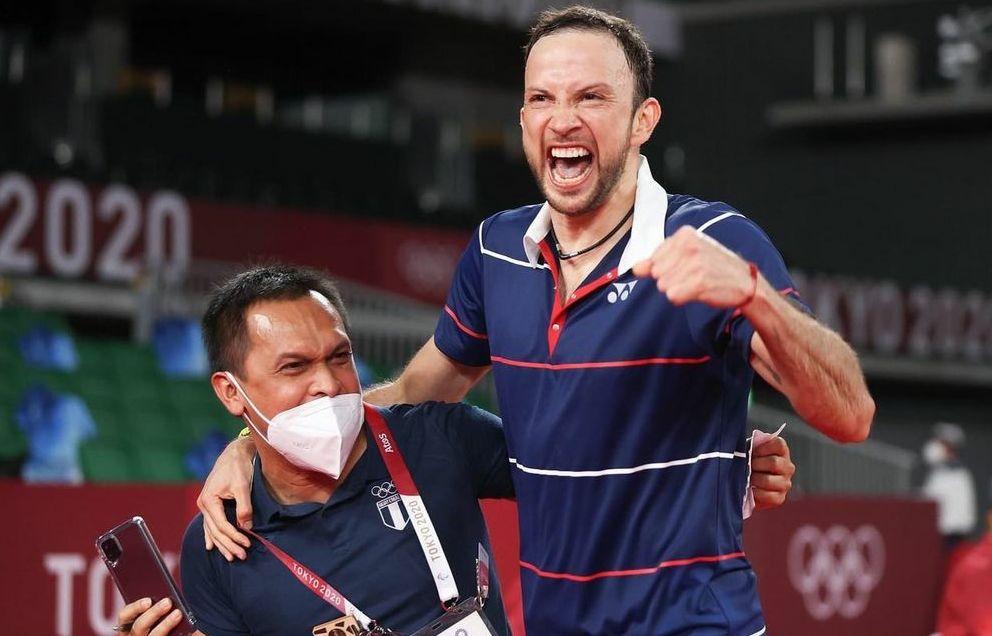 Kesuksesan Kevin Cordon di Olimpiade Tokyo tak lepas dari peran pelatih asal Indonesia, Muamar Qadafi.