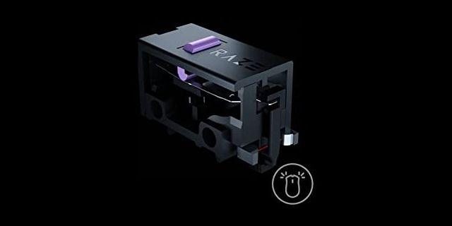 Ilustrasi switch mouse optik.